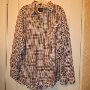 Pendleton Red and Blue button down mens shirt. L